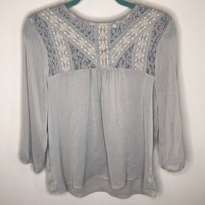 Gray Maurice's Blouse Size S